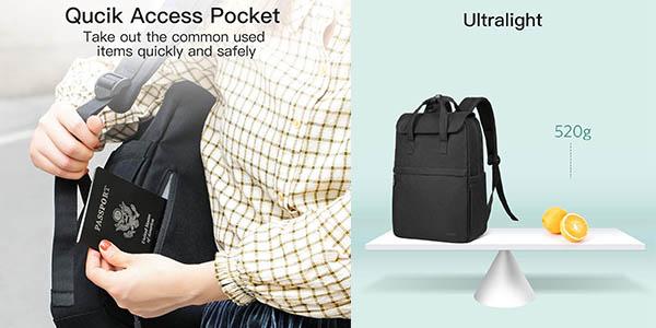 mochila Inateck para ordenador portátil de diseño urbano chollo
