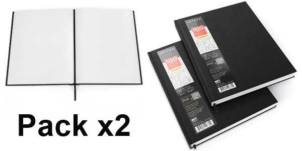 Pack x2 Cuadernos de dibujo Arteza de tapa dura baratos en Amazon