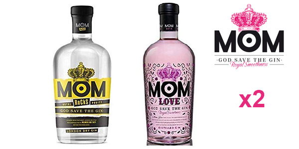 Pack x2 MOM Rocks London Dry Gin + MOM Love Distilled Gin Royal Smoothness de 700 ml/ud barato en Amazon