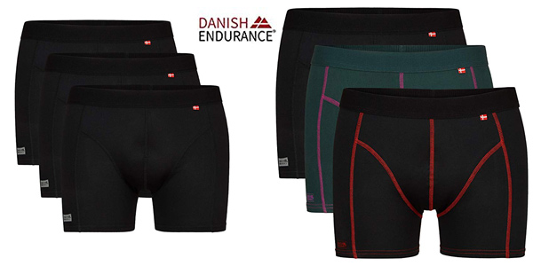 Pack x3 bóxers de deporte Danish Endurance barato en Amazon