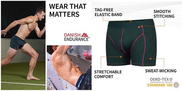Pack x3 bóxers de deporte Danish Endurance chollo en Amazon
