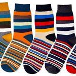 Pack x5 Pares de calcetines térmicos HBF con estamapado a rayas para hombre barato en Amazon