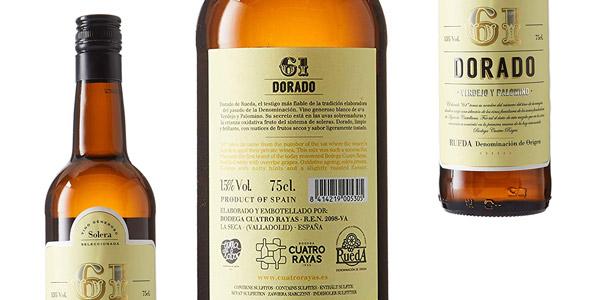 Pack x6 botellas 61 Dorado vino blanco DO Rueda Bodega Cuatro Rayas chollo en Amazon