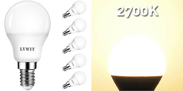Pack x6 Bombillas LED E14 de LVWIT