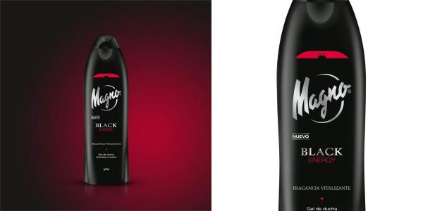 Pack x6 Gel de ducha Magno Black Energy de 550 ml/ud chollo en Amazon