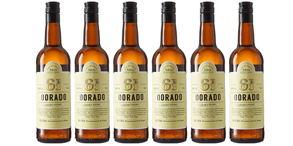 Pack x6 botellas 61 Dorado vino blanco DO Rueda Bodega Cuatro Rayas barato en Amazon