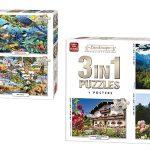 Pack x3 Puzles King International de 1000, 1000 y 500 piezas con posters incluidos barato en Amazon