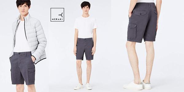 Pantalones Cortos Amazon MERAKI POETME005 para hombre baratos en Amazon