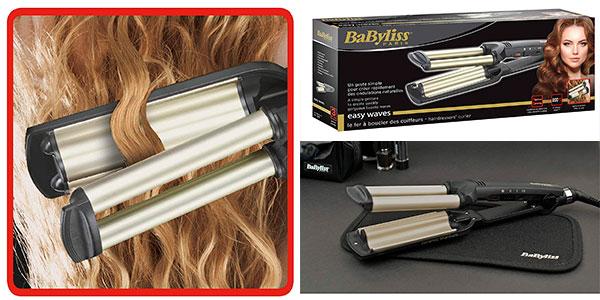 Plancha de pelo cerámica BaByliss Easy Wave C260E para ondas barata