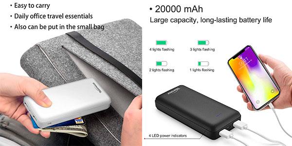 Power Bank TopMate de 20.000 mAh con USB-C barata