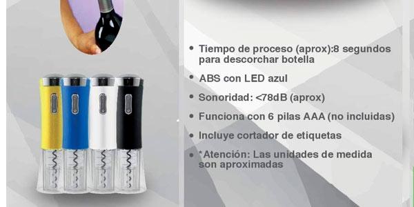 Sacacorchos eléctrico Maxell Power en oferta en Amazon