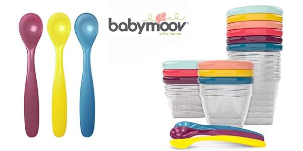Set de 12 envases de conservación y 3 cucharas Babymoov Babybols A004310 barato en Amazon