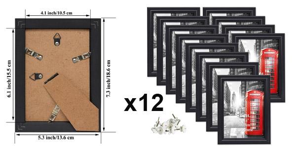 Pack x12 marcos de fotos Umi Essentials (15 x 10 cm) chollo en Amazon