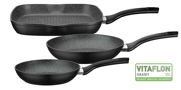 Set x3 sartenes Gourmet Granit GSW 209359 barato en Amazon
