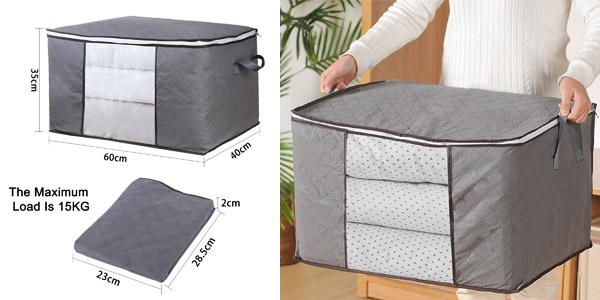 Set x4 Cajas bolsa de almacenaje de ropa GoMaihe chollo en Amazon