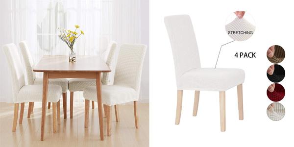 Pack x4 fundas para sillas lavables y de calidad Sonnis barato en Amazon
