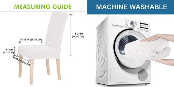 Pack x4 fundas para sillas lavables y de calidad Sonnis chollo en Amazon