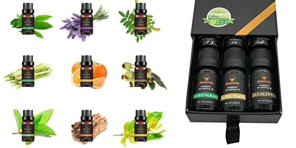 Set de 9 Aceites Esenciales de grado terapéutico TOP9 Besstoil 100% puros para aromaterapia chollazo en Amazon