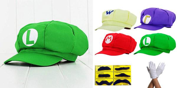 Set de disfraz Super Mario Luigi Wario y Waluigi barato en Amazon