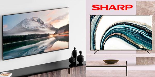 """Smart TV Sharp Big Aquos 4K de 70"""" barata"""