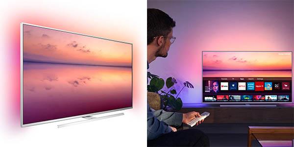 Smart TV Philips PUS6814 UHD 4K HDR con Alexa y Ambilight 3 en Amazon