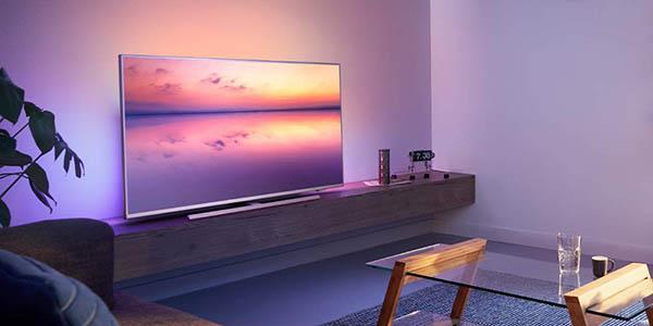 Smart TV Philips PUS6814 UHD 4K HDR con Alexa y Ambilight 3 barato