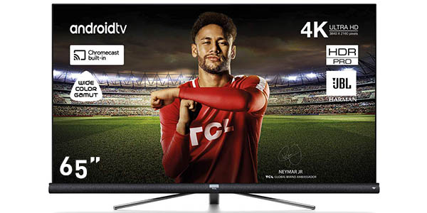 "Smart TV TCL 65DC762 UHD 4K HDR de 65"" con Android TV"