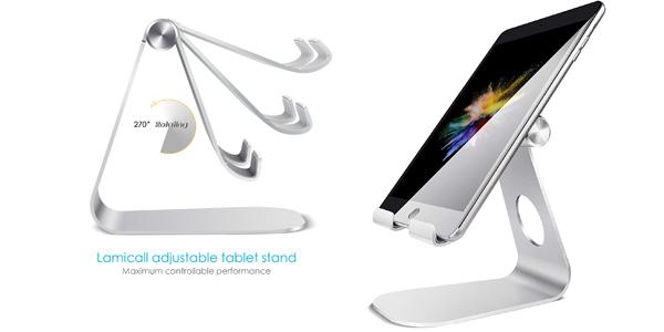 Soporte Tablet Lamicall multiángulo ajustable barato en Amazon