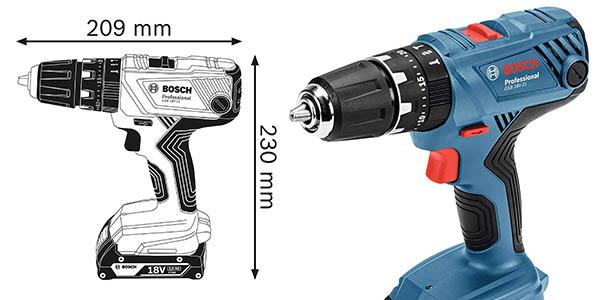 taladro percutor Bosch Professional GSB 18V 21 con set de puntas a precio de chollo