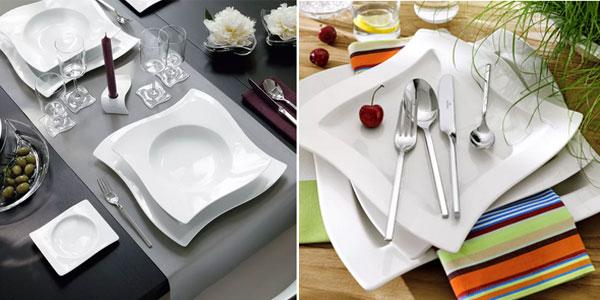 Set de vajilla de 12 piezas de Porcelana Premium Villeroy & Boch NewWave chollo en Amazon