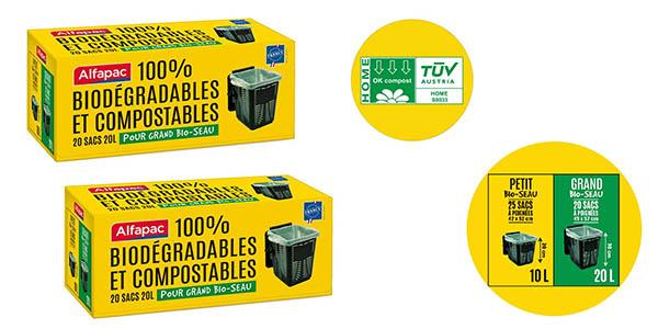 Alfapac bolsas de basura biodegradables baratas