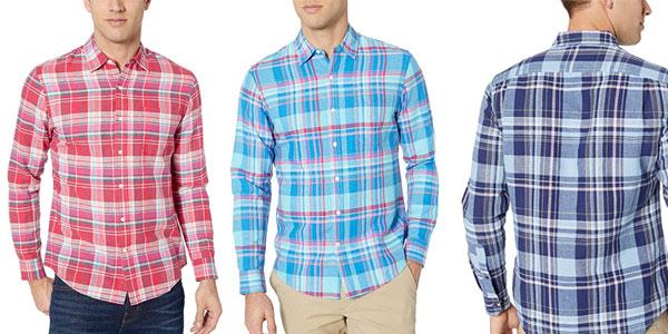 Camisa de lino Amazon Essentials barata en Amazon