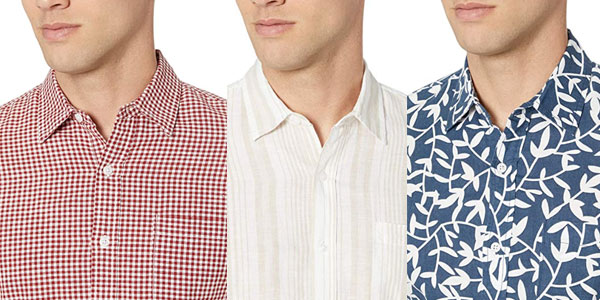Camisa de lino Amazon Essentials en oferta en Amazon