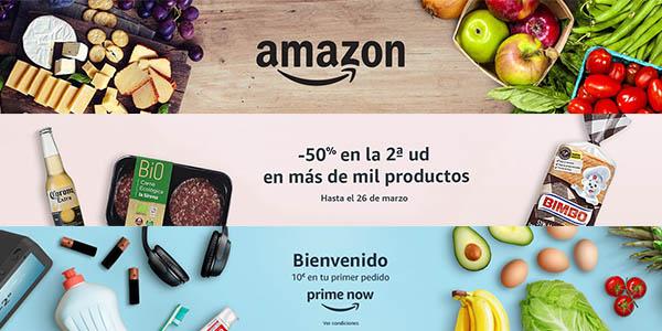 Amazon Prime Now condiciones de envío con importe mínimo