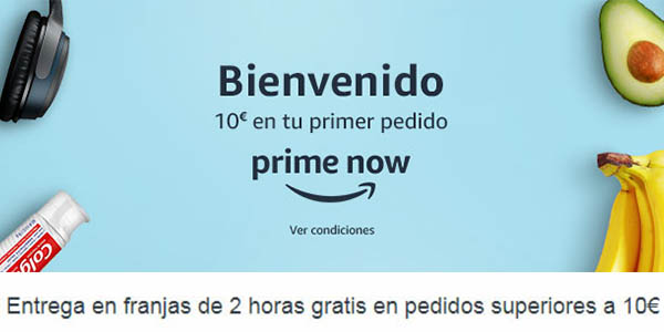 Amazon Prime Now envíos gratis