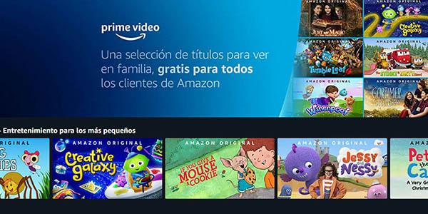 Amazon Prime Video películas infantiles gratis