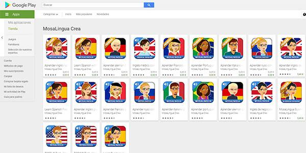 aplicación de idiomas Mosalingua Premium gratis