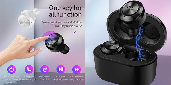Auriculares inalámbricos Docooler A6 TWS en Amazon