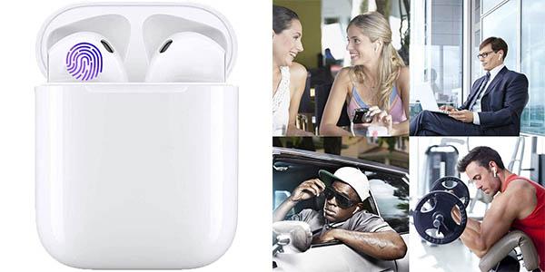 Auriculares Bluetooth 5.0 con estuche de carga