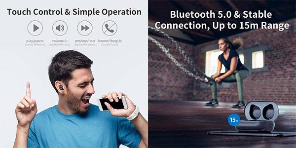 Auriculares WTS Muzili A3 Bluetooth 5.0 en oferta