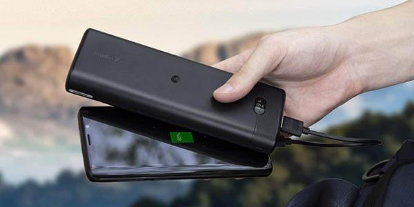 Batería externa AIDEAZ de 20.000 mAh con carga inalámbrica Qi en Amazon
