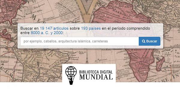 Biblioteca digital Mundial de la UNESCO gratis