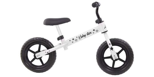 Bicicleta sin pedales para niños Risko con sillín regulable barata en Amazon