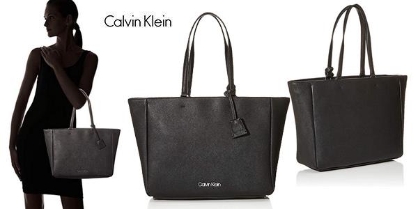 Bolso tote Calvin Klein Worked Shopper barato en Amazon