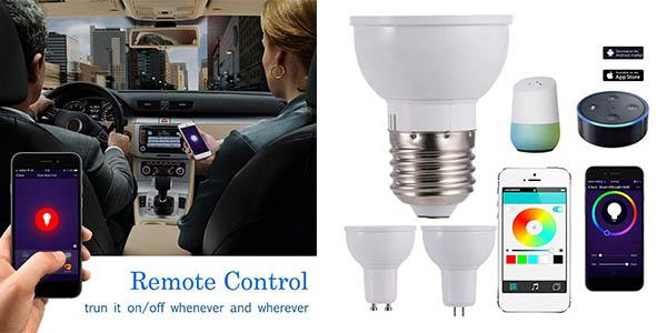 bombillas LED Fesjoy GU10 con control inteligente chollo