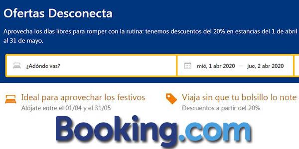 Booking ofertas Desconecta alojamientos
