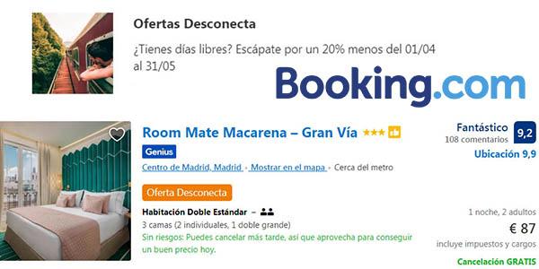 Booking ofertas Desconecta con cancelación gratis