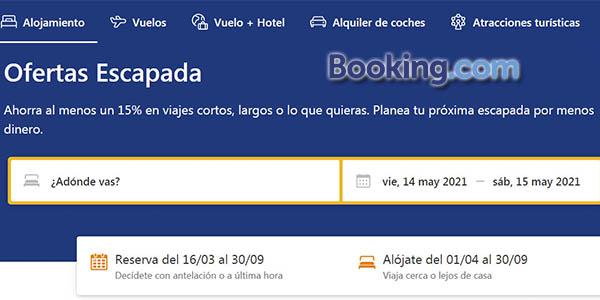 Booking ofertas escapada verano 2021