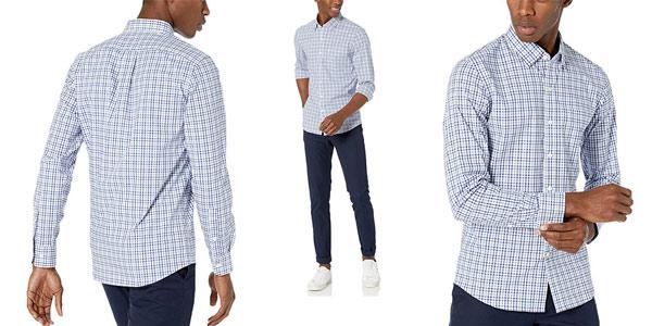 Camisa Amazon Goodthreads Slim-fit Long-Sleeve Stretch Poplin barata en Amazon