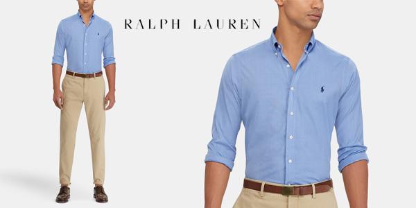 Camisa de hombre Polo Ralph Lauren regular lisa chollo en El Corte Inglés